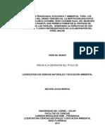 Enseñanza Pedagógica, Ecológica y Ambiental Nelson Jojoa Murcia