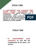 Ética y RSE.