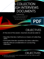 Data Collection Through Interviews and Document