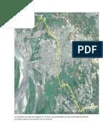 Imagen satelital de ruta de evacuación