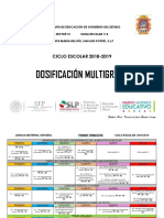 DOSIFICACIÓN MULTIGRADO 2018 - 2019.pdf