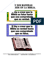 2 Maneras de Creer en La Biblia