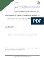 Gerencia Estratégica y Tecnología de la Comunicación