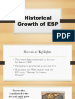 Historical Growth of ESP