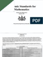 pa core math standards