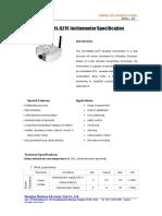 ZC LoRa Sensor ZCT800ML-S215-Specification