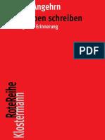 (Rote Reihe) Emil Angehrn - Sein Leben Schreiben_ Wege Der Erinnerung-Verlag Vittorio Klostermann (2017)
