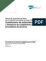 Formulario PCI DSS v3 2 SAQ D ServiceProvider