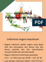 Karakteristik Ekonomi Indonesia