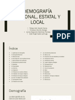 Demografia Nacional, Estatal Y Local.