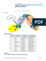 Lab 4- Configuring Multi-Area OSPFv2
