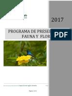 D015 Programa de Fauna y Flora