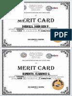 Merit Card