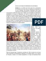 Conquista y Colonia de Los Pueblos Indígenas de Guatemala