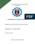 LABORATORIO de ANTENAS 4 -Clemente Rosales Adrian Bladimir