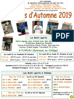 Sihva Flyer Automne 2019