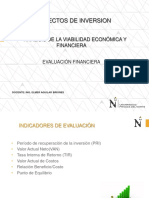 Clase Proyectos de Inversión-evaluacion Financiera