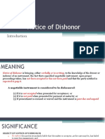 Nego Notice of dishonor