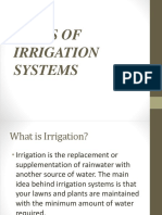 5. Types of Irrigation Systems