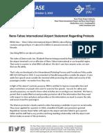 RELEASE - RNO Statement Regarding Protest