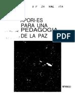 APORTES PARA UNA PEDAGOGIA DE LA PAZ