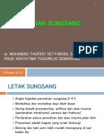 Letak Sungsang Dr.taufiqy,Spog.