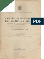 Barbosa de Faria, J. A cerâmica da tribo Uaboí. 1946