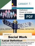 The Discipline of Social Work