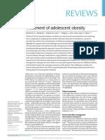 Treatment of Adolescent Obesity