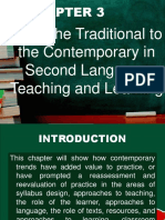 from traditional to contemporary (ESL)
