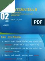 Matematika II - Modul 2 PPT Multimedia