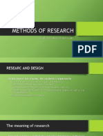 Methods of Research