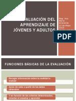 Evaluación Del Aprendizaje de Jóvenes y Adultos EVALUACIÓN