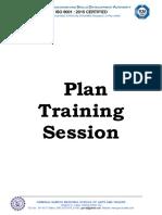 Plan Training Session Sample