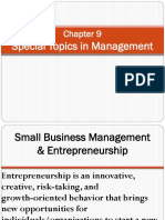 Chapter 9 Special Topics of Management