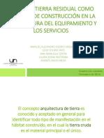 Tierra Residual en La Arquitectura de Los Equipamientos
