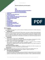 Temario Derecho Procesal Penal