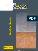 Libro. Revista de Educacion (2010). Identidad y Educación