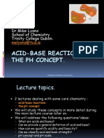 PH and Acid-Base Reactions