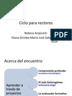 ciclo para rectores