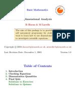 M1A 01 Algebra Foundation 06 Dimensional Analysis