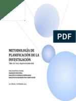 Metodología de Planificación de La Investigación