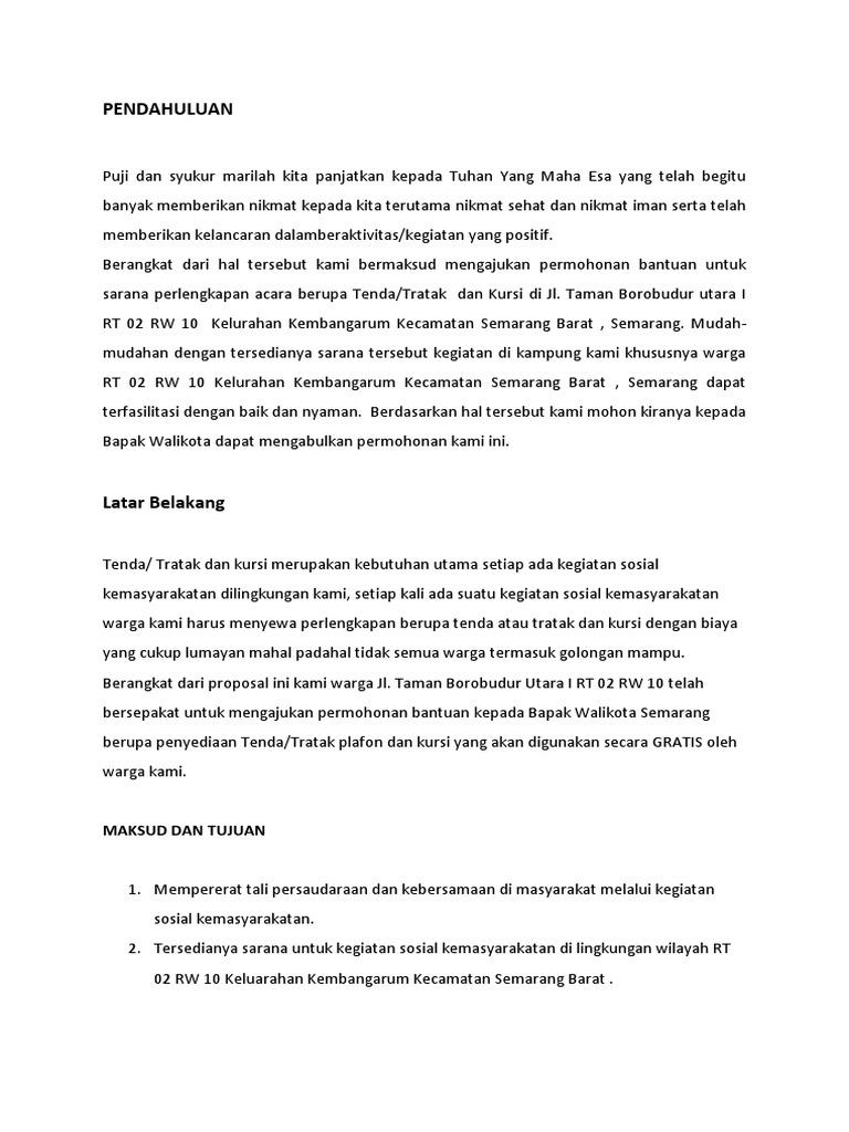 Proposal Rt Pengadaan