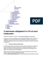 5 Elemente Obligatorii in CV-ul Unui Traducator