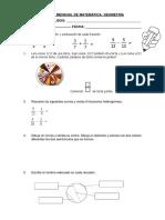 Examen Mensual de Ciencia y Tecnologia Setiembre