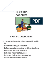 Edu 1 Meaning, Definition , Aims , Functions