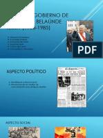Segundo Gobierno de Fernando Belaúnde Terry (1980-1985)