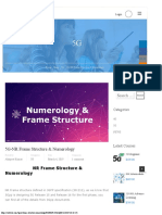 5G-NR Frame Structure & Numerology