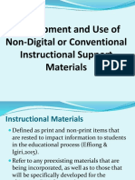 Development and Use of Non Digital or Conventional Instructional