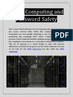 Cloud Computing and Password Safety